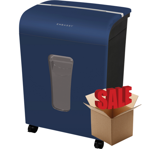 Embassy® 12 Sheet Microcut Paper Shredder LM120Piv-R Blue OPEN BOX