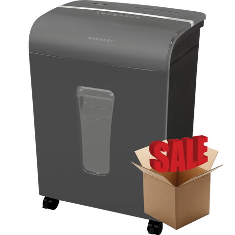 Embassy® 12 Sheet Microcut Paper Shredder LM120Pv-R Gray OPEN BOX
