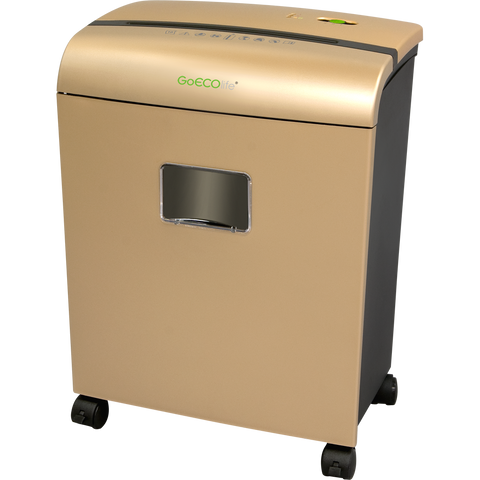 GoECOlife® Limited Edition 10 Sheet Microcut Paper Shredder GMW101Piii Gold
