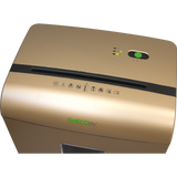 GoECOlife® Limited Edition 10 Sheet Microcut Paper Shredder GMW101Piii-R Gold OPEN BOX