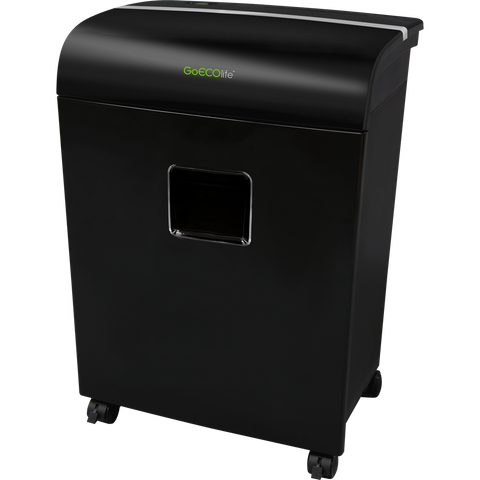 GoECOlife® Limited Edition 12 Sheet Microcut Paper Shredder GMW121Pi Black Repackaged