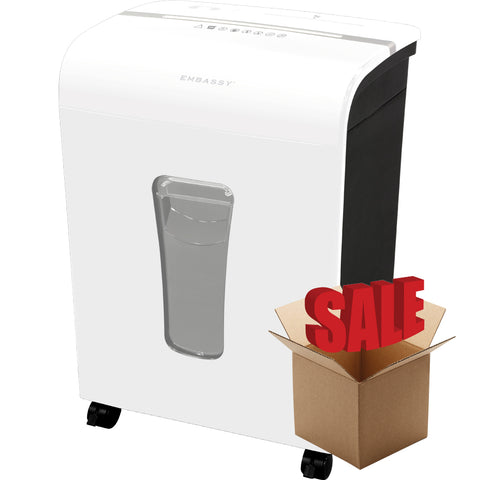 Embassy® 12 Sheet Microcut Paper Shredder LM120Pi-R White OPEN BOX