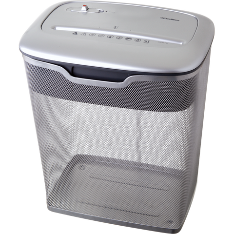 OMX 8 Sheet Diamond-Cut® Paper Shredder w/ Metal Mesh Basket OM99731