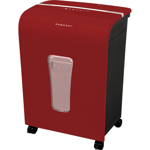 Embassy® 12 Sheet Microcut Paper Shredder LM120Pii-RP Red Repackaged