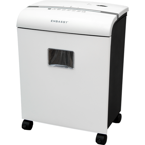 Embassy® 10 Sheet Microcut Paper Shredder LM101Pi-RP White Repackaged