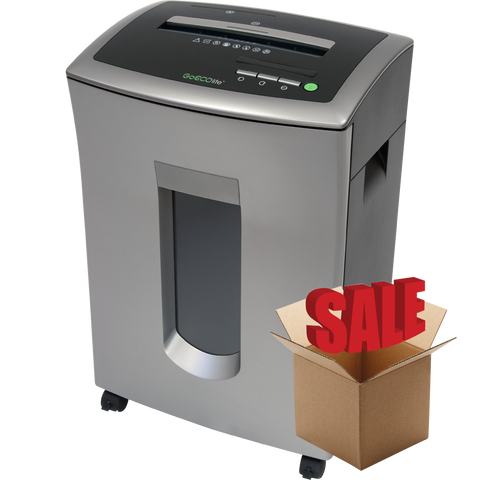 GoECOlife® 12 Sheet Crosscut Commercial Paper Shredder GXC121Pi-R OPEN BOX