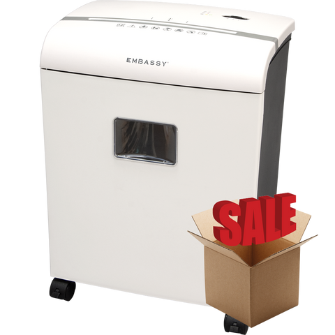 Embassy® 12 Sheet Microcut Paper Shredder LM121Pi-R White OPEN BOX