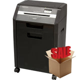 GoECOlife® Optimus Edition 8 Sheet Nano-cut® Commercial Under Desk Paper Shredder Black GHC85P-BLK-R OPEN BOX