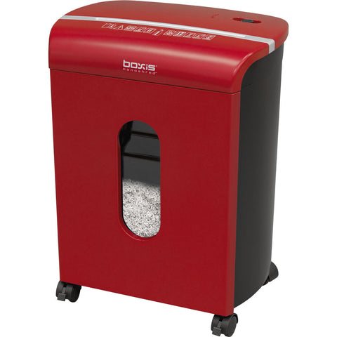 Boxis® NanoShred® BN100P-RED-RP Repackaged 10 Sheet Nanocut® Shredder - Red<br> NANO-SHRED® - THE NEXT EVOLUTION OF PAPER SHREDDERS