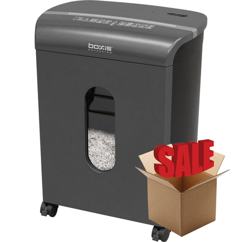 Boxis® NanoShred® BN100P-TTN-R OPEN BOX 10 Sheet Nanocut® Shredder - Titanium<br> NANO-SHRED™ - THE NEXT EVOLUTION OF PAPER SHREDDERS