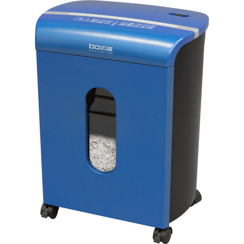 Boxis® NanoShred® BN100P-BLE-RP Repackaged 10 Sheet Nanocut® Shredder - Blue<br> NANO-SHRED™ - THE NEXT EVOLUTION OF PAPER SHREDDERS