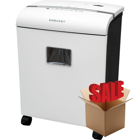 Embassy® 10 Sheet Microcut Paper Shredder LM101Pi-R White OPEN BOX