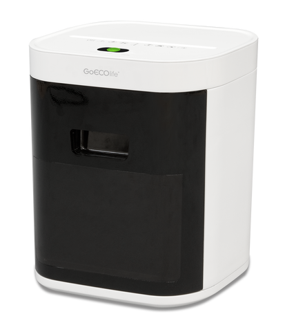 GoECOlife® 10 Sheet Limited Edition Microcut Paper Shredder GMW103P-WHT White