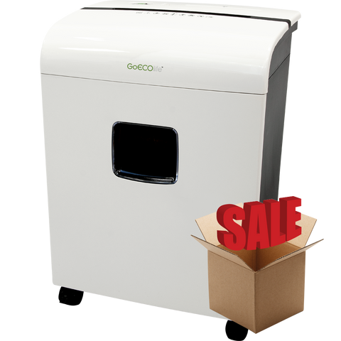 GoECOlife® Limited Edition 12 Sheet Microcut Paper Shredder GMW120P-R White OPEN BOX