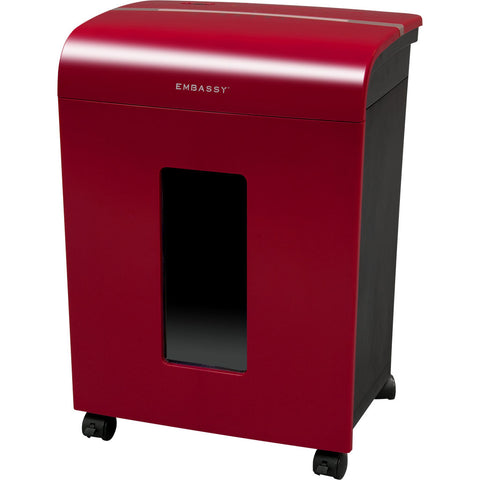 Embassy® 14 Sheet Microcut Paper Shredder LM140Pviii-RP Cherry Red Repackaged