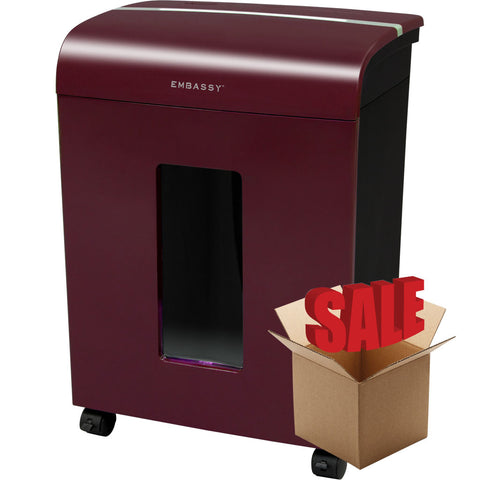 Embassy® 14 Sheet Microcut Paper Shredder LM140Pvi-R Merlot OPEN BOX