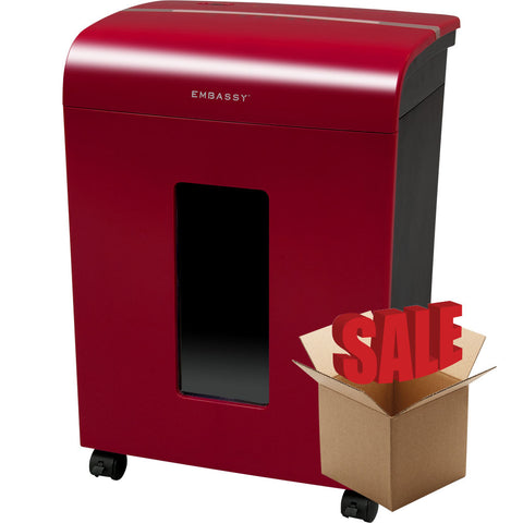 Embassy® 14 Sheet Microcut Paper Shredder LM140Pviii-R Cherry Red OPEN BOX