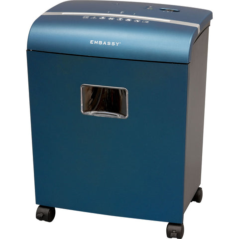 Embassy® 10 Sheet Microcut Paper Shredder LM101Piv Metallic Blue
