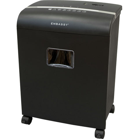 Embassy® 10 Sheet Microcut Paper Shredder LM101P-RP Black Repackaged