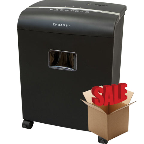 Embassy® 10 Sheet Microcut Paper Shredder LM101P-R Black OPEN BOX