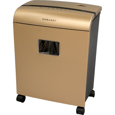 Embassy® 10 Sheet Microcut Paper Shredder LM101Piii-RP Gold Repackaged