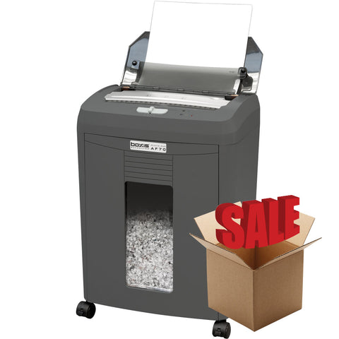 Boxis® AutoShred® 70 Sheet Autofeed Microcut Shredder AF70-R OPEN BOX