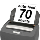 Boxis® AutoShred® 70 Sheet Autofeed Microcut Shredder AF70-RP Repackaged