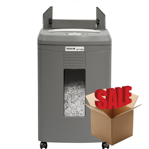 Boxis® AutoShred® 120 Sheet Autofeed Microcut Shredder AF120-R OPEN BOX