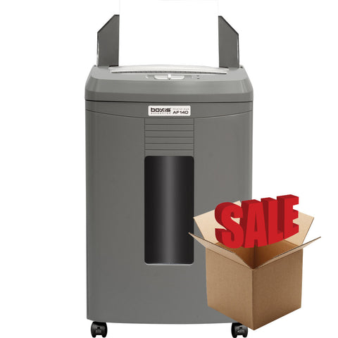 Boxis® AutoShred® 140 Sheet Autofeed Microcut Shredder AF140-R OPEN BOX