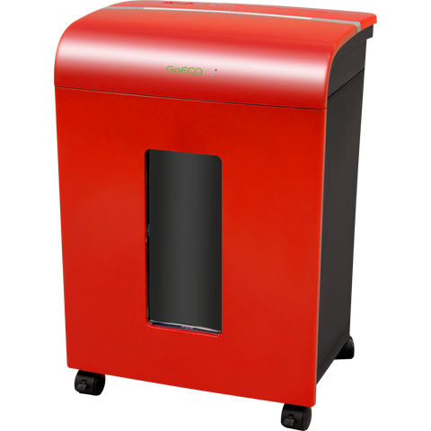GoECOlife® Limited Edition 12 Sheet Microcut Paper Shredder GMW120Pii-RP Red Repackaged