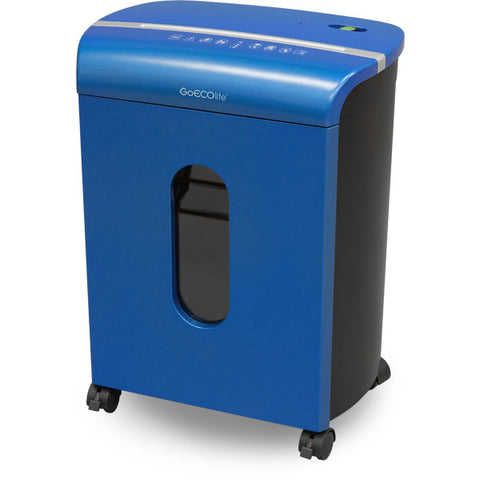 GoECOlife® Limited Edition 10 Sheet Microcut Paper Shredder Blue GMW104P-BLE