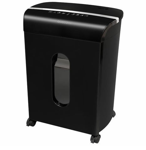 GoECOlife® Limited Edition 10 Sheet Microcut Paper Shredder Black GMW104P-BLK