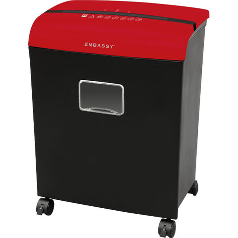 Embassy® 12 Sheet Microcut Paper Shredder LM121Piv Red Top