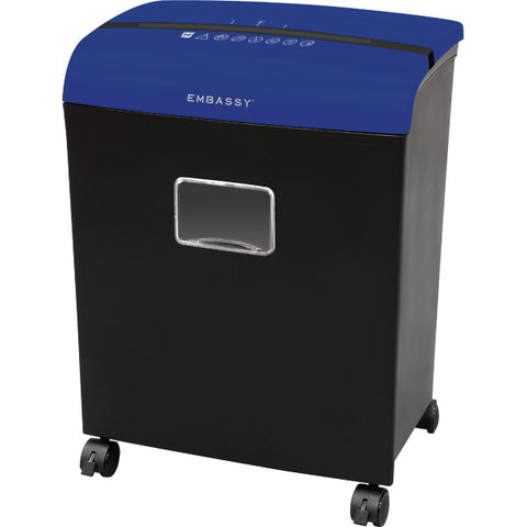Embassy® 12 Sheet Microcut Paper Shredder LM121Pv Blue Top