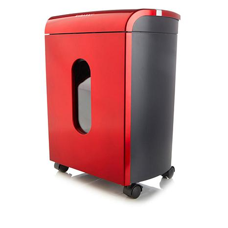 Embassy® Microcut 12-Sheet Space-Saver Shredder with Locking Bin LM124P-RD2 Red