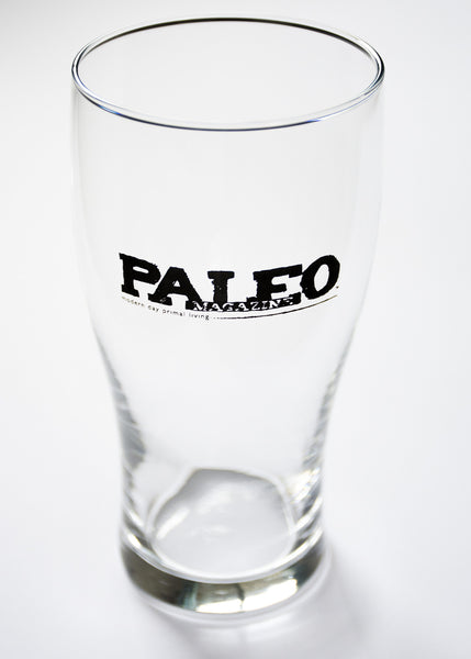 Paleo Magazine Pint Glass