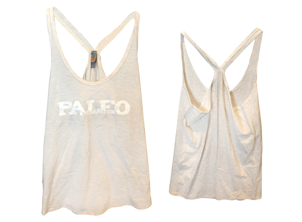 Women's Cream Racerback Tank