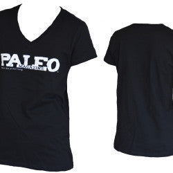Women's Paleo Magazine V-neck Shirt