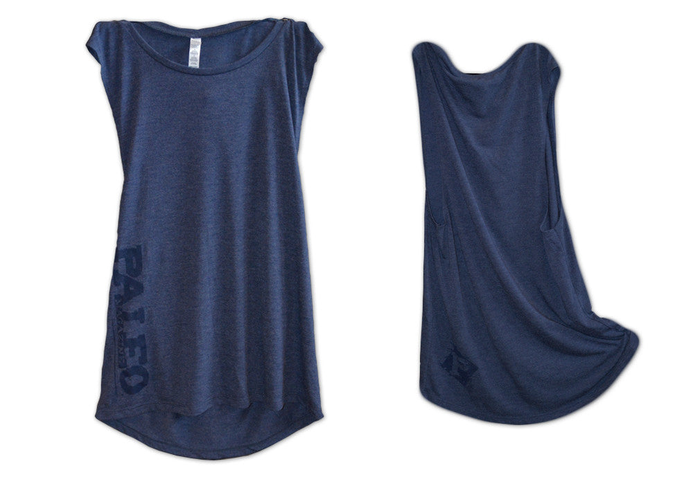 Navy Muscle Cut Tank