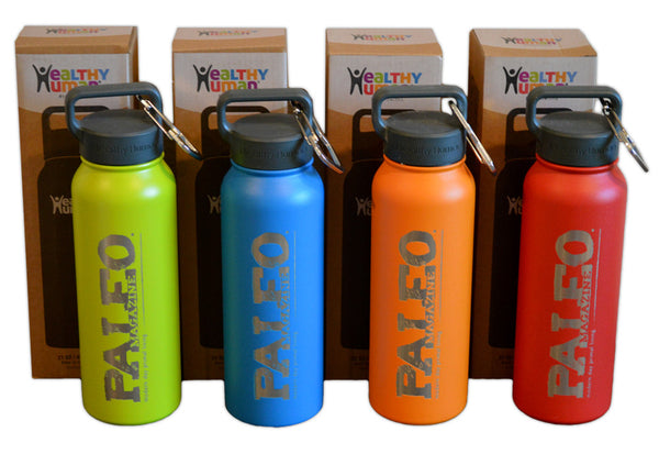 Official Paleo Magazine Healthy Human Water Bottle