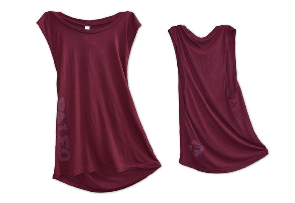 Crimson Muscle Cut Tank