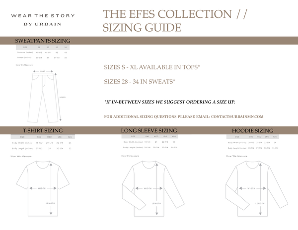 Efes Sizing Guide