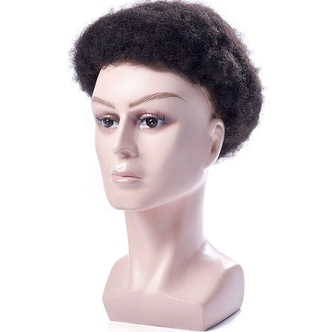 Ali Queen Hair Mens Toupee Full Lace Afro Kinky Curly Remy Indian Hair Replacement Human Hair System All Lace Hairpieces