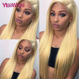 613 Honey Blonde Lace Front Wigs Remy Brazilian Straight Lace Front Human Hair Wigs For Black Women 13x4 Transparent Lace Wigs