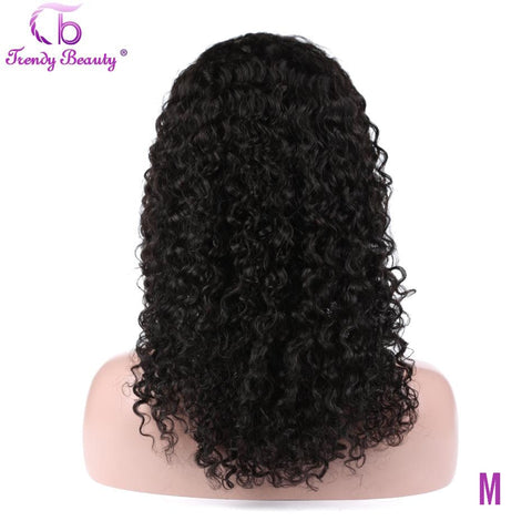 Brazilian Kinky Curly Human Hair Wigs 13x4 Lace Frontal Wig 150% Density Trendy Beauty Non-remy 100% Human Hair lace front Wigs