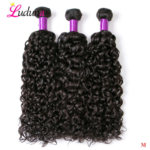 Luduna Water Wave Hair Bundles Malaysian Hair Bundles Non-Remy Human Hair Extension 1/3/4 Bundles Deals Weave Hair Weft