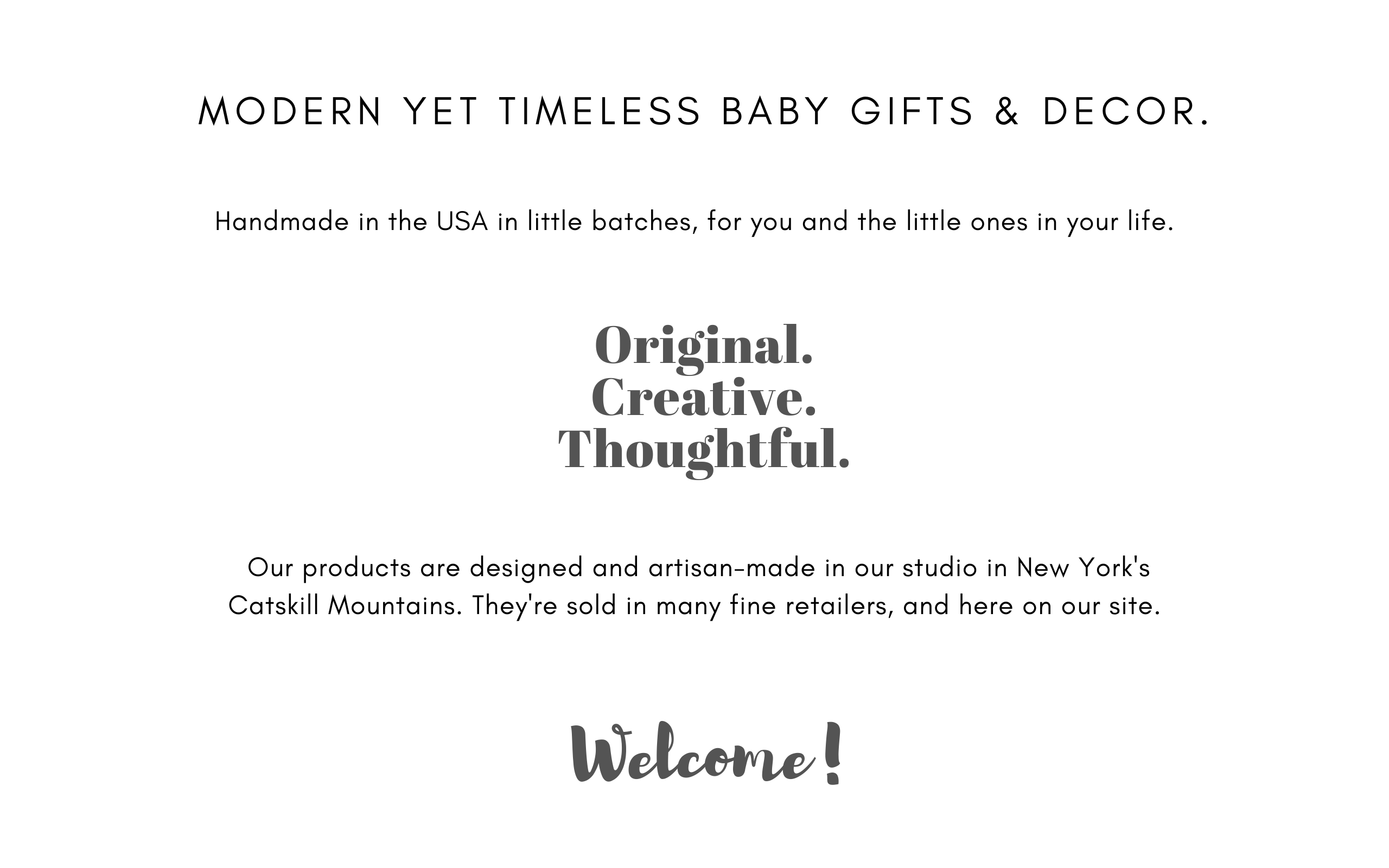 Modern yet timeless baby gifts, toddler gifts, nursery & kids room decor. Unique, creative, original, different. Handmade in the USA in little batches. Wooden music boxes, animal clocks, solar nightlights, custom & personalized childrens products designed and artisan-made in our studio in New York's Catskill Mountains.