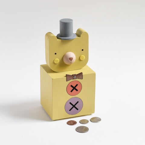 Dapper Circus Bear Coin Bank - Tree by Kerri Lee