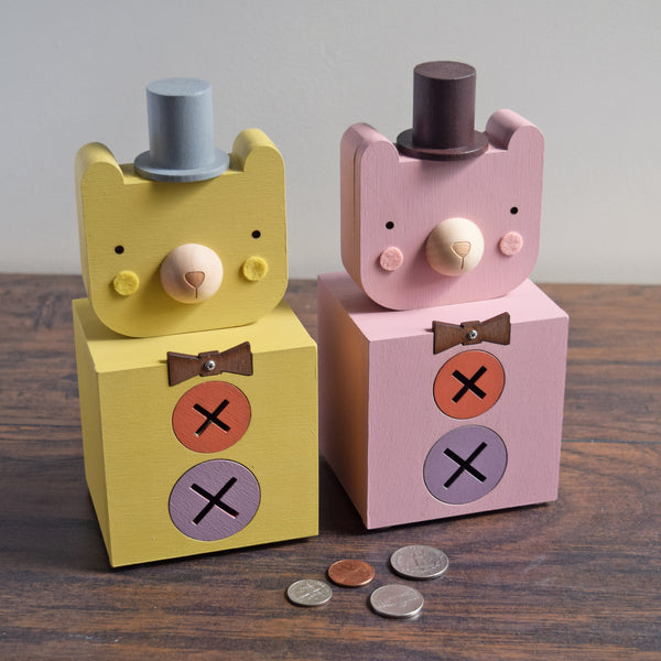 Dapper Bear Coin Bank - Tree by Kerri Lee