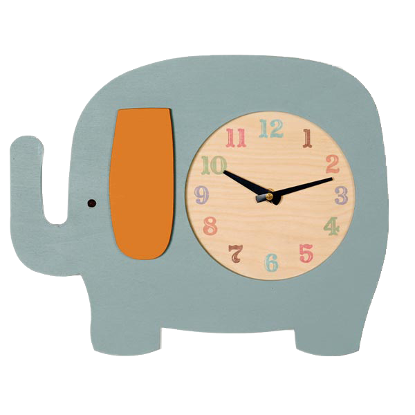 elephant clock (2 colors)